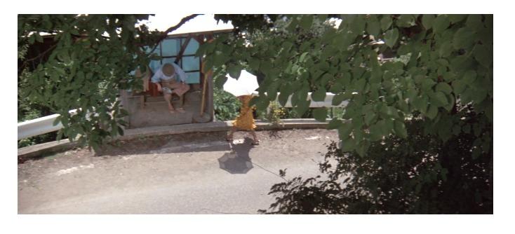 寅とリリーのバス亭でのシーン