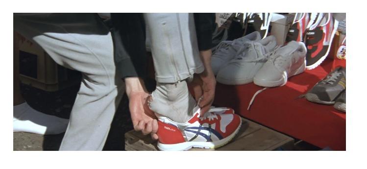 第40作「男はつらいよ 寅次郎サラダ記念日」で寅さんが啖呵売した商品「運動靴」
